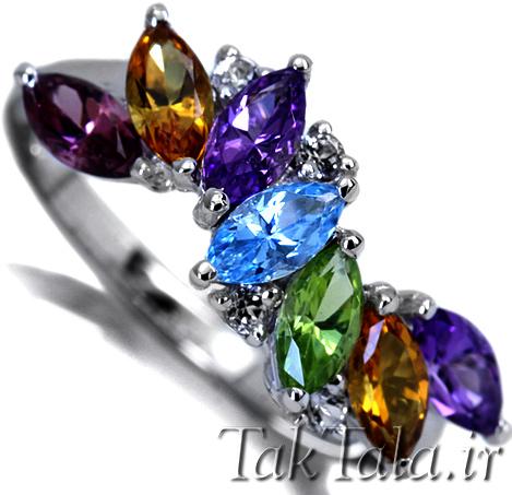 انگشتر مارکیز طلا و جواهر
