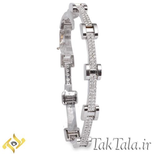دستبند طلا زنانه با نگین برلیان