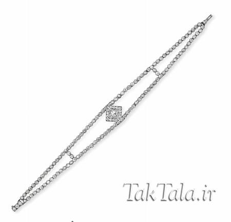 دستبند طلا زنانه برلیان مدل تیفانی