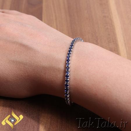 دستبند یاقوت کبود طلا و جواهر
