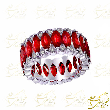 انگشتر یاقوت سرخ زنانه مارکیز