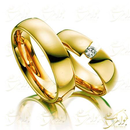 حلقه است ازدواج طلای رزگلد و برلیان