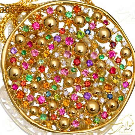 گردنبند جواهر نشان طلا