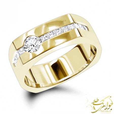 انگشتر برلیان مردانه طلا