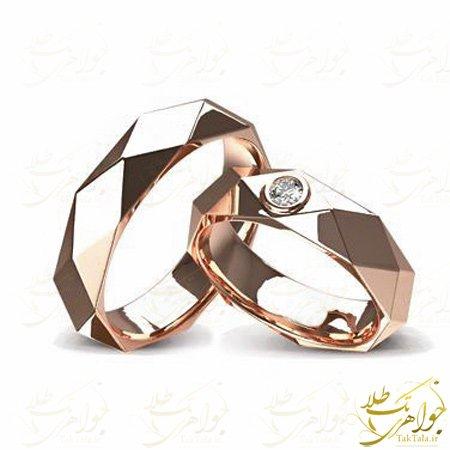 حلقه ازدواج طلا و جواهر مدل جدید
