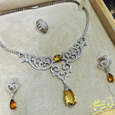 سرویس جواهر عروس خاص طلا و جواهر