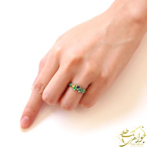 انگشتر جواهر مولتی کالر