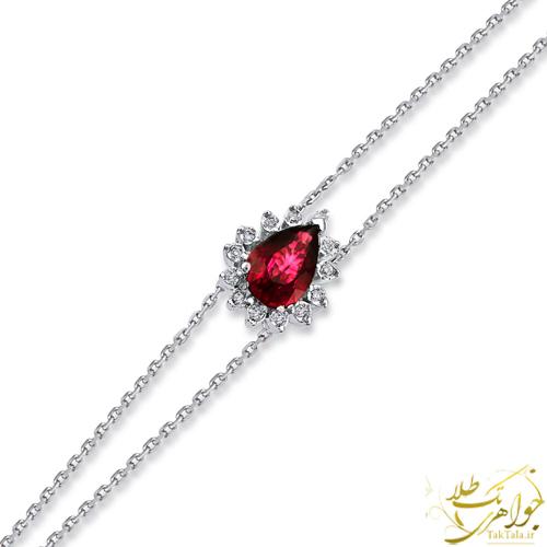 دستبند یاقوت سرخ طلا و جواهر