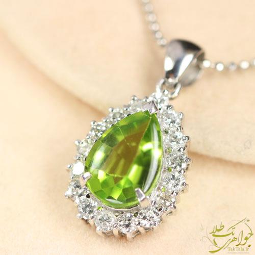 گردنبند زبرجد سبز طلا و جواهر