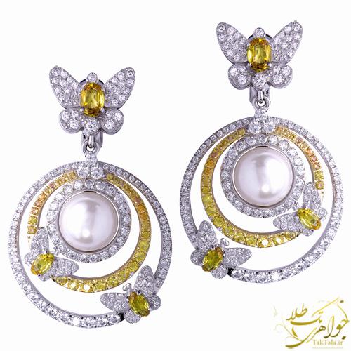گوشوره مروارید اصل طلا و جواهر