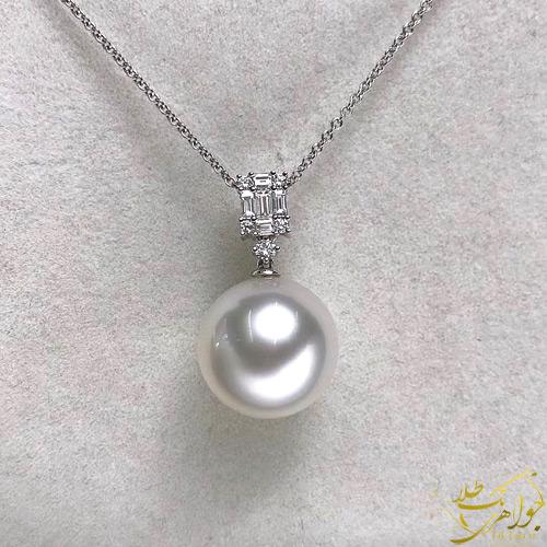 گردنبند مرورارید اصل طلا و جواهر