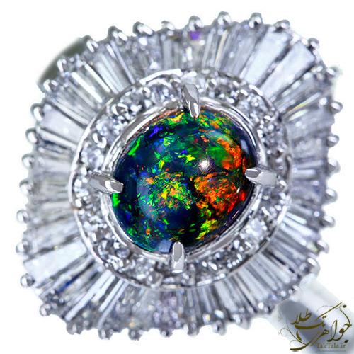 انگشتر اوپال زنانه طلا و جواهر