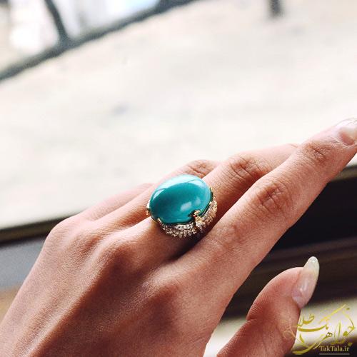 مدل انگشتر طلا فیروزه زنانه