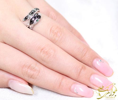 مدل انگشتر مار طلا و جواهر زنانه
