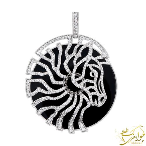 گردنبند طرح اسب طلا و جواهر زنانه