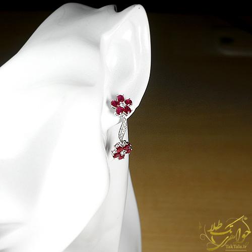 مدل گوشاره یاقوت اصل طلا و جواهر