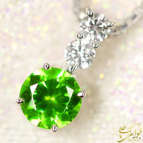 گردننبد گارنت سبز طلا و جواهر