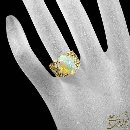 مدل انگشتر اپال طلا و جواهر زنانه