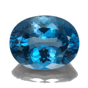 سنگ نوپاز آبی بیضی یا توپاز آبی سوئیس