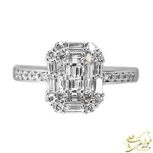 انگشتر باگت زنانه طلا و جواهر
