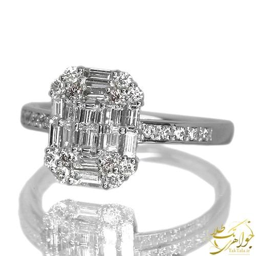 انگشتر طلا و جواهر زنانه باگت برلیان