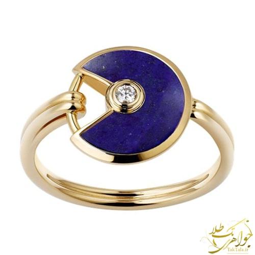 انگشتر لاجورد زنانه طلا و جواهر