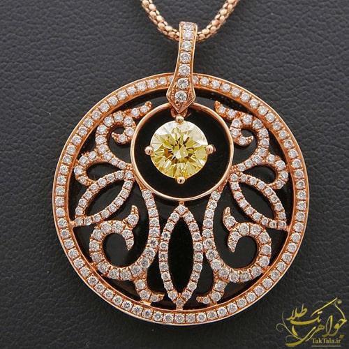 گردنبند اونیکس طلا و جواهر زنانه