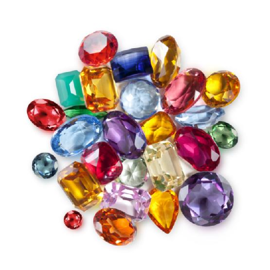 سنگهای جواهرات رنگی