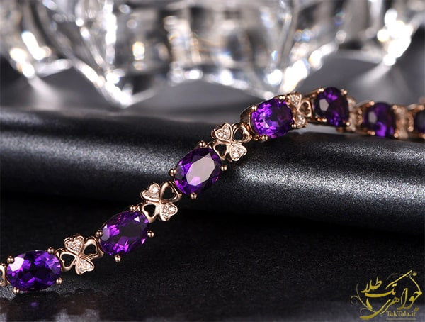 مدل دستبند زنانه آماتیست و برلیان